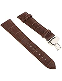 Leather Watch Band Butterfly Deployment Clasp Buckle