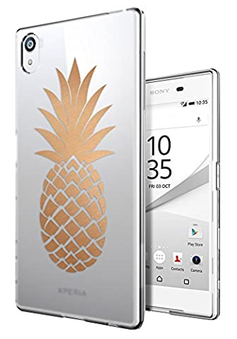 Coque Telephone Sony Xperia M4 - C0729 - Large Tropical Pineapple Fruit Trend