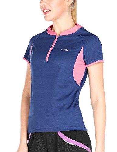 4Ucycling bici ciclismo maglietta sportiva Maglietta da ciclismo, da uomo da donna Jersey, Blau, XL