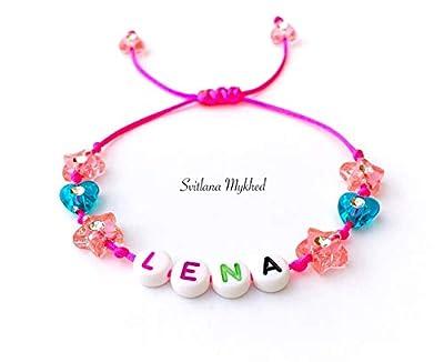 Bracelet personnalisé avec prénom LENA (réversible, personnalisable) homme, femme, enfant, bébé, nouveau-né.