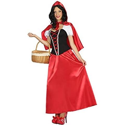 Atosa 17721–Caperucita Roja, para mujer Disfraz, tamaño XL, 42/44