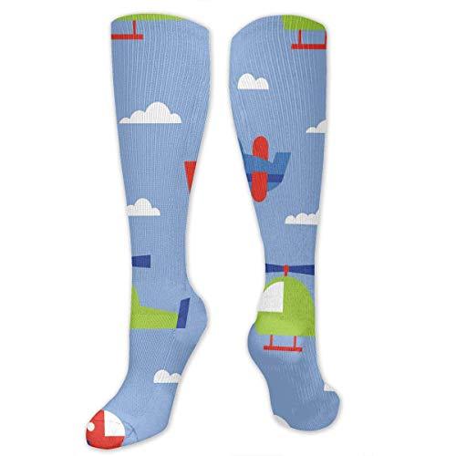 Jxrodekz Big Tall Casual Sports Socks for Men Abstract Airplane Unisex Non Slip Boot Socks Long Stocking Women Training