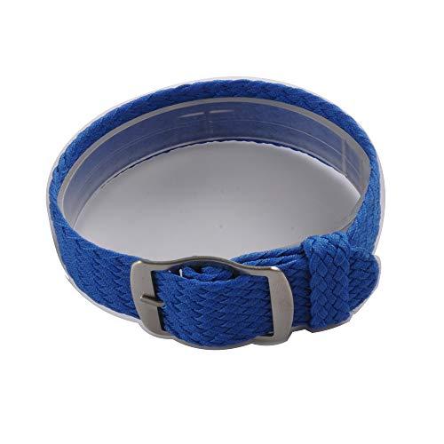 Uhrenarmband NATO-Strap 20mm NATO-Armband in Farbe blau aus Robustem Ballistic Nylon Uhr Armband Zul