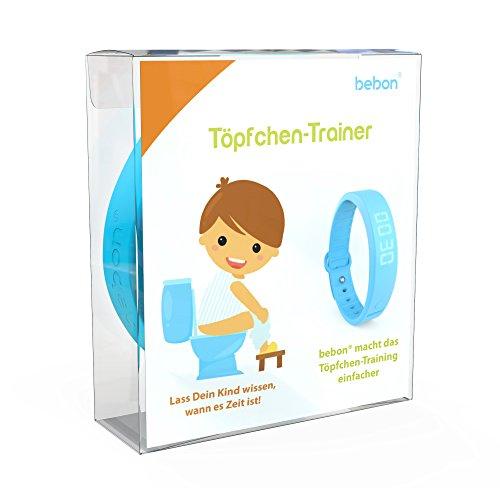 bebon Töpfchen-Trainer, Toiletten-Trainer für Kinder – macht das Töpfchen-Training einfacher – lass Dein Kind wissen, wann es Zeit ist aufs Töpfchen zu gehen (Blau)