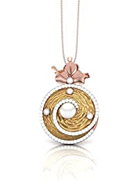 The House Of Diamonds 18KT Yellow Gold, Solitaire And Pearl Pendant For Women - B076CR6GCZ