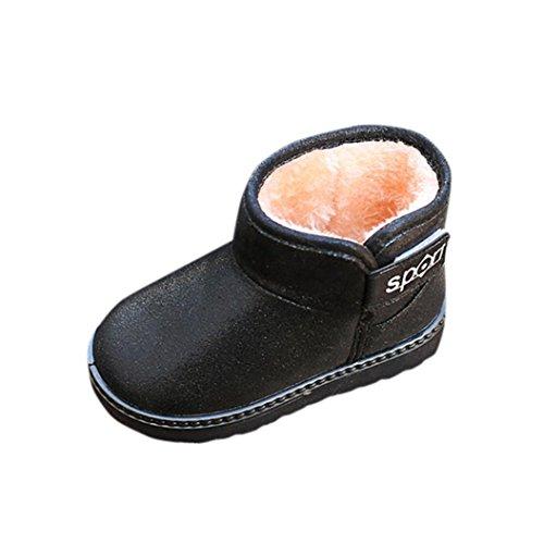 Babyschuhe URSING Kinder Herbst Winter Warm Mode Kinder Martin Schuhe Mädchen Casual Snow Boots Baby lederschuhe Sequins Baumwollschuhe Prinzessin Stiefel Anti-Rutsch flache Stiefel (25, (Kleinkind Günstige Stiefel)