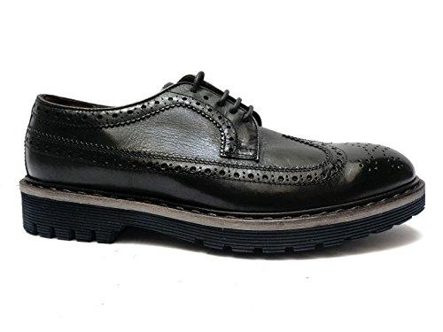 """Antica Cuoieria scarpe da uomo in pelle col. Nero stile """"inglese"""", n. 40"""