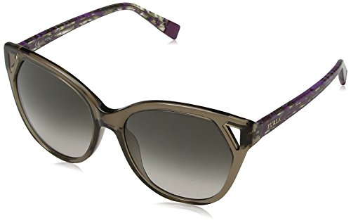 Furla eyewear occhiali da sole donna, marrone (shiny transp.brown), 55