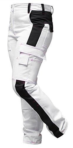 Malerkleidung: Damen Arbeitshose Weiß für Frauen Malerhose