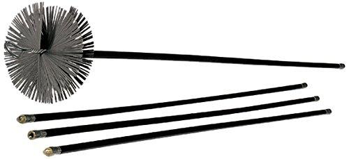Vigor Blinky 40840-30 Kit Spazzacamino con 6 Canne da 140 cm, Diametro 30 cm
