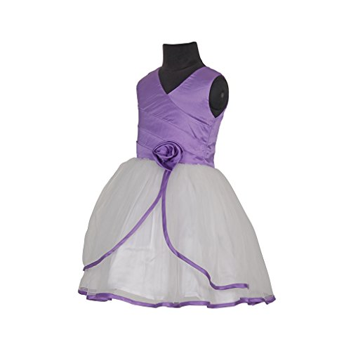 sofyana baby girl s satin purple and white baby frock and gown for