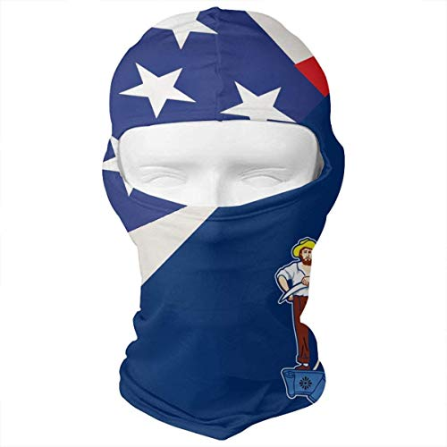 Maine State Flag USA American Flag Balaclava Face Mask Headwear Helmet Liner Gear Full Face Mask -