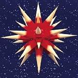 Herrnhuter Sterne, Stern i6, gelb-roter Kern, für Innenbereich, Durchmesser ca. 60cm