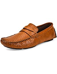 Shoe Daisy Men's Tan Synthetic Slip-On Loafers