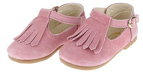 La Vogue Zapatos Niña Zapatilla Princesa Borla Fiesta Rosa Talla 23