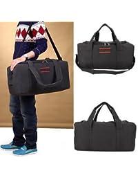 SLB Works Brand New Fashion Men's Canvas Gym Duffle Shoulder Bag Travel Luggage Handbag Bags-Black
