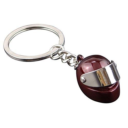 Hosaire 1X Llaveros de Automoción llaveros Personalizados Casco de Moto Modelo Llavero Ideal para la Decoración de su Bolso Moda y personalización Size 8 * 2.8 * 2cm (Rojo)