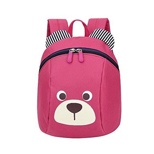 Hniunew Paket Anti-Verlorene Kind-Baby-Beutel KinderrucksäCke Cute Hund Tier Muster -Schultasche Daypacks Backpack RucksäCke Taschen Studententasche Bags FüR 1-3 Years Old Kindergarten Kinder