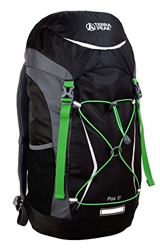 Terra Peak Rucksack Fox, 40 x 30 x 10 cm, 18 Liter Black/Grey
