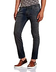 Jack & Jones Mens Slim Fit Jeans (5713446429032_12122774Black_33W x 34L)