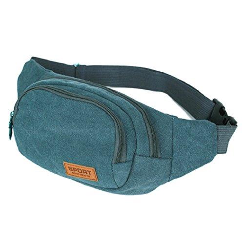 Bluelans® Gürteltasche Bauchtasche Multifunktionale Hüfttasche für Damen und Herren auf Sport und Outdoor Aktivitäten anwenden, Wandern, Laufen, Radfahren, Camping, Reise, Klettern Blau