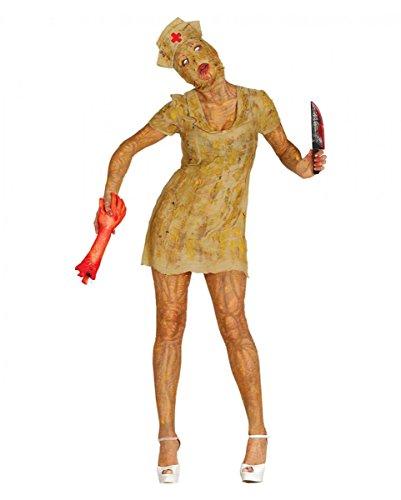 Hill Silent Kostüm - Horror-Shop Silent Mountain Zombie Nurse Untote Kostüm für Halloween M