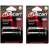 Saihan Tuscan 2 Packs of 4 Pieces 1100mAh AAA 1.2V, Rechargeable Ni-Mh Batteries 1100 mAh AAA Size
