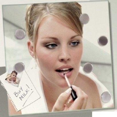 CKB Ltd® Glass Mirror Magnetic Memo Board Glasspiegel- Make-up-Spiegel, dass Sie Hinweis Erinnerungen hinzufügen - With 6 Magnets To Attach To Notes 35x35 cm (Magnetic Glass Board)
