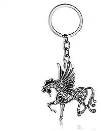 Kanggest. Porte-clés Original De Cheval Volant Blanc, Chaîne de Clef de  Licorne c07539d3b4c