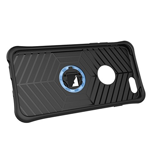 iPhone Case Cover 2 in 1 Neue Rüstung Tough Style Hybrid Dual Layer Armor Defender PC Hartschalen mit Ständer Shockproof Case ​​für das iPhone 6 6s ( Color : Blue , Size : Iphone 6 6s ) Gold