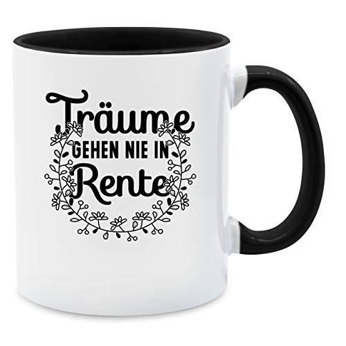 Tasse Berufe - Träume gehen nie in Rente - Unisize - Schwarz - b0171oqass - Q9061 - Kaffee-Tasse inkl. Geschenk-Verpackung