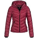 Marikoo Kuala Damen Jacke Steppjacke Übergangsjacke gesteppt XS-XXL 15Farben, Größe:XS / 34;Farbe:Bordeaux