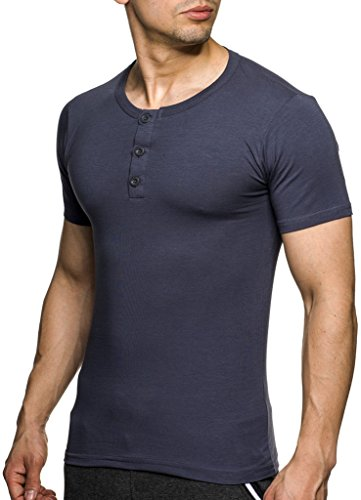 LEIF NELSON Herren T-Shirt TS4090; Größe L, Anthrazit | 04250863651819