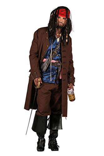 Thetru Herren Kostüm Piratenkapitän Pirat Karneval Fasching Gr.L