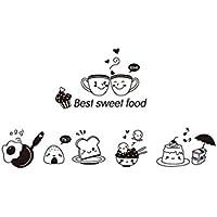 Da.Wa Etiqueta Adhesiva de Pared de Vinilo Diseño Decorativo de Linda para Cafetería, Restaurante, Cocina, Sala de Estar