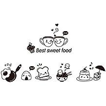 Gespout Pegatinas Adhesivos Decorativos para Pared Manualidades DIY Papel Cocina Café Decoración del Restaurante Cocinando Accesorios