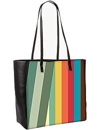 Slant Multi Color Obo, Shoulder Bag Tote Faux Leather Handbag Satchel Tote