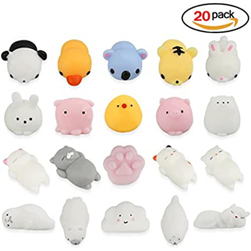mini kawaii miniaturas kawaii Heall 20pcs Mini Squishies Kawaii Juguete de Descompresión de Stress Squishy Reliever Relief Soft Toy Color al azar