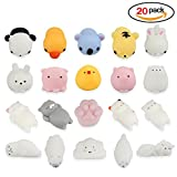 Heall Squeeze Toys 20PCS Soft Squishy Toys Cute Kawaii Animal Mini Decompression Toys (Multicolor)