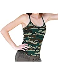 Cami camuflaje impresión camuflaje posar Tank Top Túnica Para espaguetis de tirantes algodón 3X L