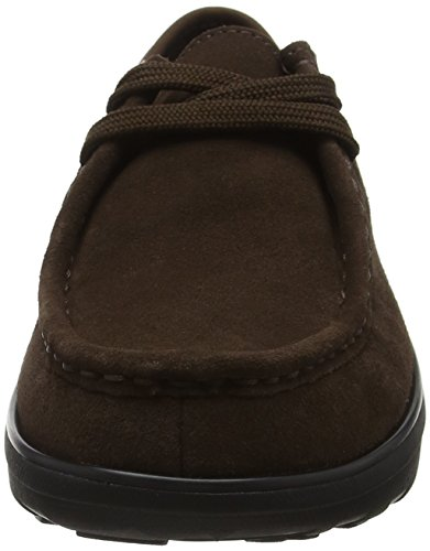 Loaff Marron Mocassino up Lace Fitflop Femme cioccolato Moc W86xwdTTqn