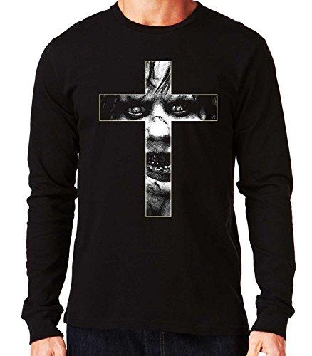 35mm – Camiseta Hombre Manga Larga – El Exorcista – The Exorcist – Cruz – Long Sleeve Man T-Shirt