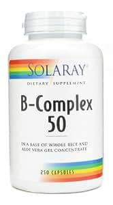 Solaray - B-complex 50 - 50 gélules - Réparateur des lésions cutanées