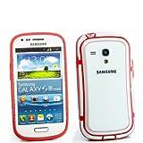 TPU silicone caso Bumper Case per Samsung I8190Galaxy S3SIII Mini Rosso Trasparente Bordo Custodia di protezione Custodia Cover Cornice angoli custodia protettiva nuovo
