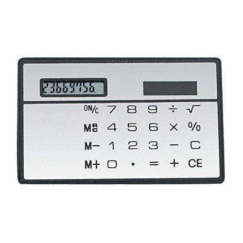 Alxcio 8-stelliges Standard-Taschenrechner, 2 Stück Ultra Dünn Mini Größe Solarbetriebene Kreditkarte Design Rechner, Weiß*2