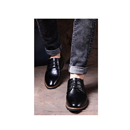 Lyzgf Le Printemps Et Automne Jeunes Hommes Casual Sneakers Mode Pointu Toe Noir