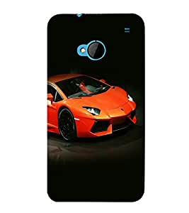 printtech Superfast car Back Case Cover for HTC One M7::HTC M7