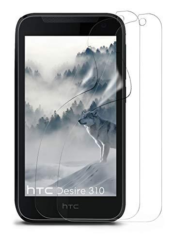 moex 2X HTC Desire 310   Schutzfolie Klar Bildschirm Schutz [Crystal-Clear] Screen Protector Display Handy-Folie Dünn Bildschirmschutz-Folie für HTC Desire 310 Bildschirmfolie