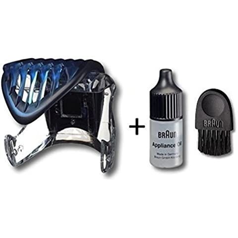 Braun Cruzer 2/3/4 Adjustable Trimmer and Clipper Comb with cleaning brush approx. 6cm and oil 7ml
