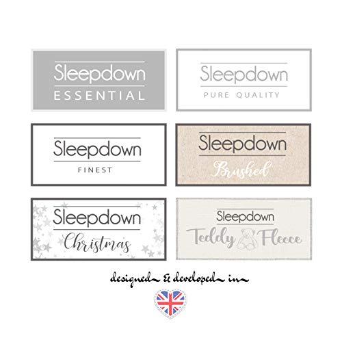 Sleep Down - Funda de edredón y Fundas de Almohada, diseño de Cachemira y Mandala, Color Gris, algodón poliéster, Gris, Matrimonio